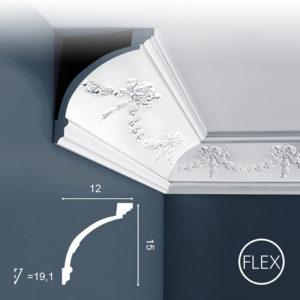 Listwa Sufitowa C218 Flex 15cm Orac Decor