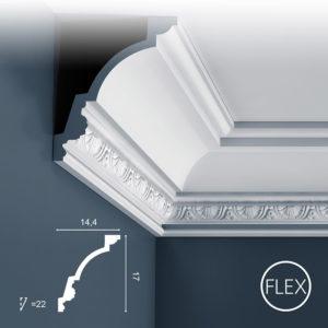 Listwa Sufitowa C301 Flex 17cm Orac Decor